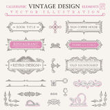 Calligraphic vintage elements. Vector baroque set Royalty Free Stock Photo