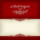 Calligraphic vintage frame Royalty Free Stock Photo