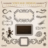 Calligraphic vintage heraldic. Vector frame Stock Photos