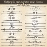 Calligraphic vintage page decoration design elements. Vector Card Invitation Text Decoration. Calligraphic Royalty Free Stock Image
