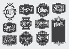 Calligraphic vintage signs royalty free illustration