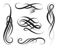 Calligraphic virvlar stock illustrationer