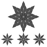 Calligraphical flower. Black calligraphical flower on a white background Royalty Free Stock Photography