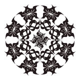 Calligraphical star. Black calligraphical star on a white background Royalty Free Stock Image