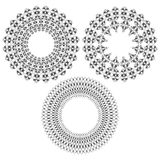 Calligraphical stars. Four black calligraphical star on a white background Royalty Free Stock Photo