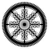 Calligraphical wheel. Black calligraphical wheel on a white background Stock Photography