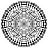 Calligraphical wheel. Black calligraphical wheel on a white background Royalty Free Stock Image