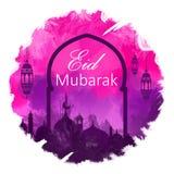 Calligraphie arabe d'une salutation d'eid, adha heureux d'Al d'Eid, fitr d'EID Al, beau fond numérique d'art de carte de voeux d' photos stock