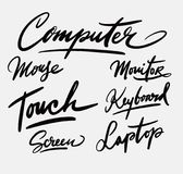 Calligraphie d'écriture d'ordinateur photo libre de droits