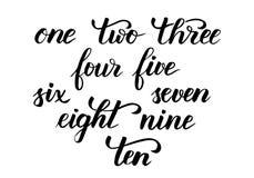 Calligraphie de brosse de nombres illustration stock
