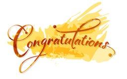 Calligraphie de félicitations Photos stock