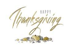 Calligraphie de lettrage de thanksgiving illustration de vecteur
