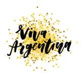 Calligraphie de lettrage de vecteur d'expression de Jour de la Déclaration d'Indépendance de Viva Argentina Photos stock
