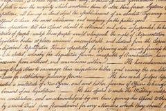 Calligraphie de papier parcheminé de fond Photo libre de droits