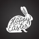 Calligraphie de signe de lapin de Pâques Illustration de vecteur Photographie stock libre de droits