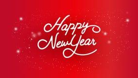 Calligraphie de typographie de bonne année Lettrage saisonnier bannière de conception de disposition de fond Illustration Image stock