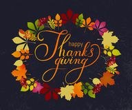 Calligraphie de vecteur de thanksgiving Photographie stock