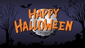 Calligraphie heureuse de typographie de Halloween Lettrage saisonnier bannière de conception de disposition de fond Illustration Image libre de droits