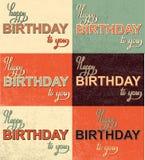 Calligraphie réglée de lettrage de main de joyeux anniversaire Photo stock