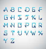 Calligraphy Alphabet Design. Vector Illustration Stock Images