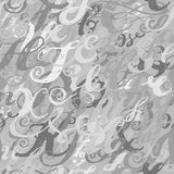 Calligraphy alphabet typeset lettering. Seamless wallpaper patte Royalty Free Stock Photography