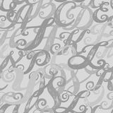 Calligraphy alphabet typeset lettering. Seamless wallpaper pattern. Hand drawn sketch of ABC letters in old fashion vintage style Royalty Free Stock Image
