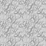 Calligraphy alphabet typeset lettering. Seamless wallpaper pattern. Hand drawn sketch of ABC letters in old fashion vintage style Stock Image