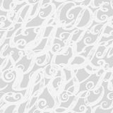 Calligraphy alphabet typeset lettering. Seamless wallpaper pattern. Hand drawn sketch of ABC letters in old fashion vintage style Stock Images