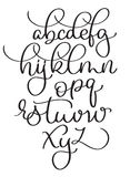 Calligraphy alphabet on white background. Hand drawn vintage lettering Vector illustration EPS10.  Stock Image