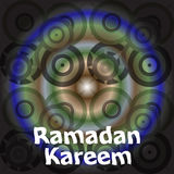 Calligraphy of Arabic text of Ramadan Kareem for the celebration of Muslim community festival. Stock Photography