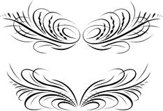 Calligraphy Baroque Curves. Royalty Free Stock Photography