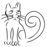 Calligraphy cat Royalty Free Stock Photography