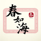 Calligraphy Chinese Good Luck Symbols Royalty Free Stock Photos