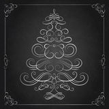 Calligraphy Christmas tree. Royalty Free Stock Images