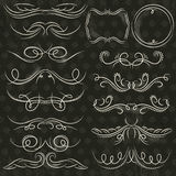Calligraphy decorative borders, ornamental rules, dividers, vect royalty free stock images