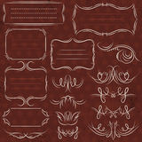Calligraphy decorative borders, ornamental rules, dividers, vect stock images