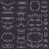 Calligraphy decorative borders, ornamental rules, dividers, vect Stock Image
