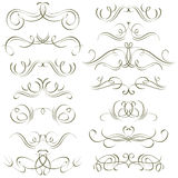Calligraphy decorative borders, ornamental rules,  Royalty Free Stock Image