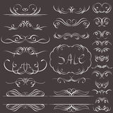 Calligraphy decorative borders, ornamental rules,  Stock Image