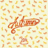 Calligraphy design lettering AUTUMN Stock Images