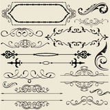 Calligraphy design set Royalty Free Stock Photos