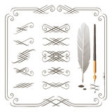 Calligraphy elements Royalty Free Stock Images