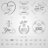 Calligraphy Elements Set Stock Photos