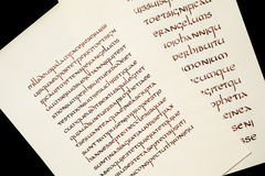 Calligraphy exercises Royalty Free Stock Images
