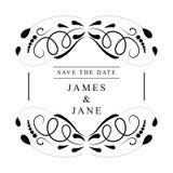 Vintage wedding invitation frames vector design royalty free stock photo
