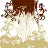 Calligraphy grunge background Stock Image