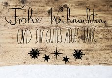 Calligraphy Gutes Neues Means Happy New Year, Snow Royalty Free Stock Photography