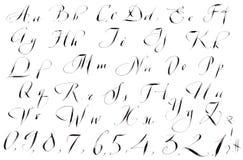 Calligraphy hand-written  Alphabet Stock Image