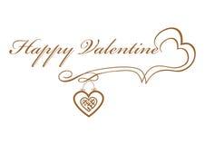 Calligraphy Happy Valentine's original  illustration Stock Photos