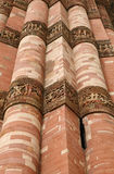 Calligraphy and intricate design on Qutub Minar Stock Photo